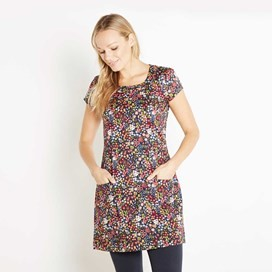 Alana Printed Stretch Tunic Ink