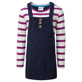 Ruby Light Cord Pinafore Dark Navy