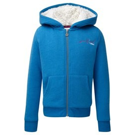 Elle Fur Fleece Lined Hoodie Blue Jay