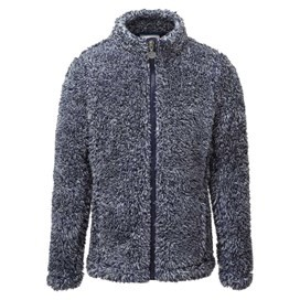 Anna Full Zip Twisted Fleece Dark Navy