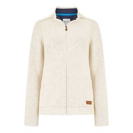 Eartha Full Zip Siera Soft Knit Jacket Ivory