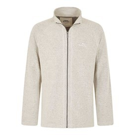 Helmstead Full Zip Zip Seira Knit Soft Grey