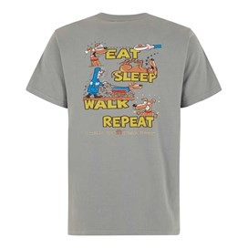 Eat Sleep Walk Artist Tee Grey Blue