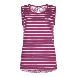 Georgie Stripe Vest Top Boysenberry