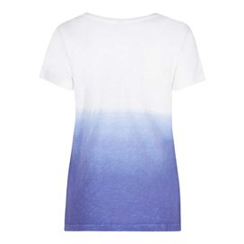 Craftwork Dip Dyed Graphic Print T-Shirt Clematis Blue