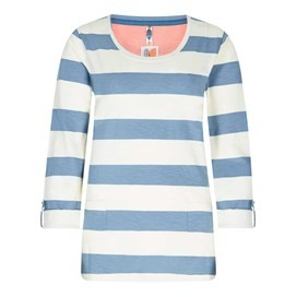 Ajay Cotton Slub Stripe Long Sleeve T-Shirt Citadel