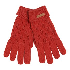 Kittilitz Pointelle Glove Red