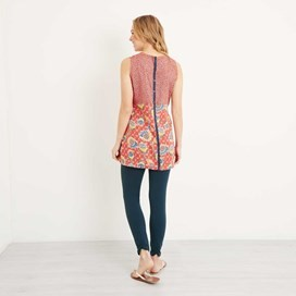 Sachi Printed Lightweight Tunic Tango Red