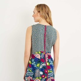 Sachi Printed Lightweight Tunic Dusty Teal