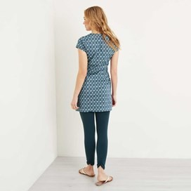 Alanis Printed Stretch Tunic Ink