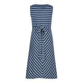 Pascale Lightweight Striped Dress Dark Denim