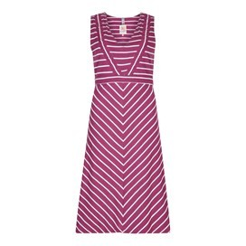 Pascale Lightweight Striped Dress Boysenberry