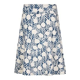 Malmo Printed Jersey Skirt Dark Denim