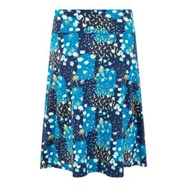 Malmo Printed Jersey Skirt Blue Sapphire
