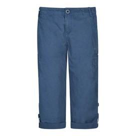 Savannah Cotton 3/4 Length Utility Trouser Dark Denim