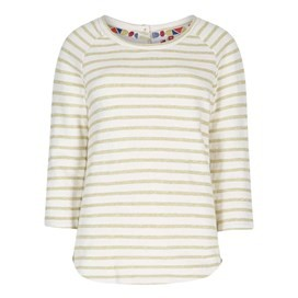 Roxie Striped Crew Neck Top Antique Moss