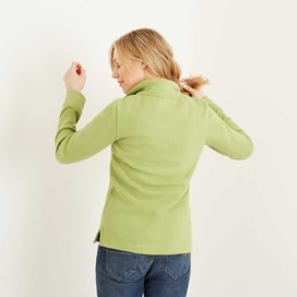 Bina 1/4 Zip Print Lined Sweatshirt Lime