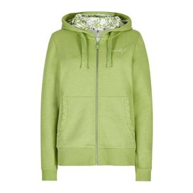 Taloga Print Lined Full Zip Hoodie Lime