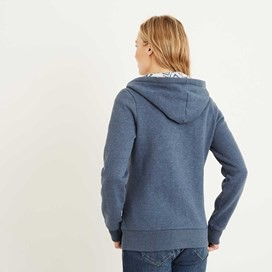 Taloga Print Lined Full Zip Hoodie Dark Denim