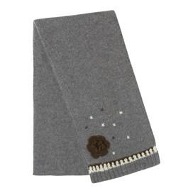 Laysan Crochet Flower Scarf Mid Grey