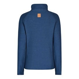 Constantine Print Trim 1/4 Zip Classic Macaroni Sweatshirt Dark Denim