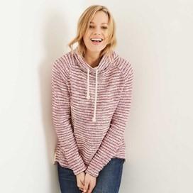 Essie Slub Knitted Popover Top Boysenberry