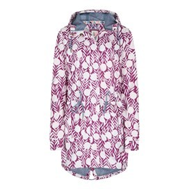 Babylon Showerproof Printed Ripstop Parka Jacket Boysenberry