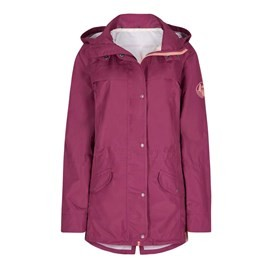 Avesta Print Lined Fully Waterproof Hooded Jacket Boysenberry