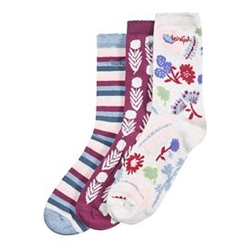 Parade Patterned Sock 3 Pack Light Cream