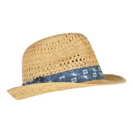 Diwali Straw Trilby Hat Natural