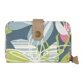 Tom Tom Printed Cotton Purse Petrol Blue