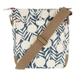 Amira Printed Cotton Cross Body Bag Dark Denim
