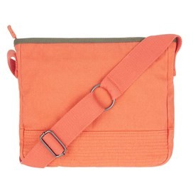 Britta Cotton Cross Body Bag Vibrant Coral