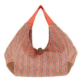 Maidan Jacquard Shopper Bag Dusty Orange