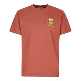 Beered Fish Artist T-Shirt Brick Red