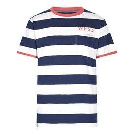 Higgins Bold Striped T-Shirt Maritime Blue