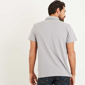 Andy Marled Jersey Polo Shirt Frost Grey Marl