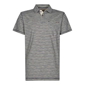 Gibson Slub Stripe Polo Shirt Maritime Blue