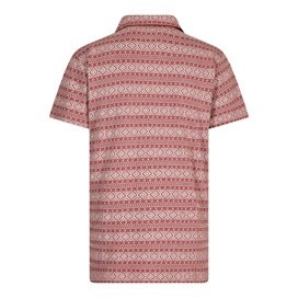 Janssen Pigment Dyed Stripe Polo Brick Red