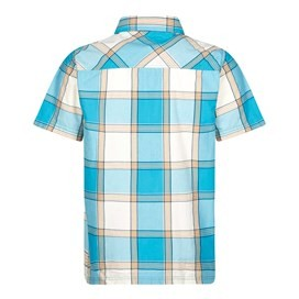 Trevelyan Micro Sanded Short Sleeve Check Shirt Bright Blue