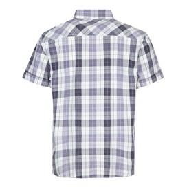 Wint Vintage Wash Short Sleeve Check Shirt Coal