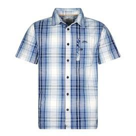 Darros Slub Short Sleeve Check Shirt Maritime Blue