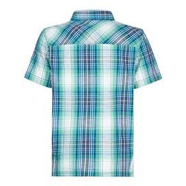 Darros Slub Short Sleeve Check Shirt Deep Ocean