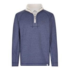 Geo 1/4 Zip Sweatshirt Maritime Blue