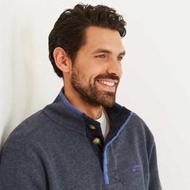 Boyer Button Neck Sweatshirt Maritime Blue