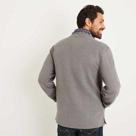 Boyer Button Neck Sweatshirt Pewter