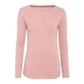 Roma Long Sleeve Stripe Top Pale Pink