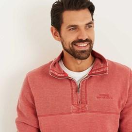 Zorrin 1/4 Zip Pique Sweatshirt Baked Apple