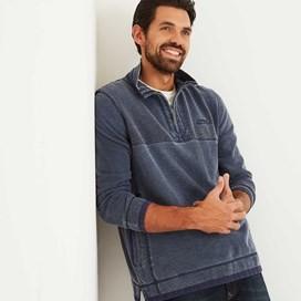 Zorrin 1/4 Zip Pique Sweatshirt Maritime Blue