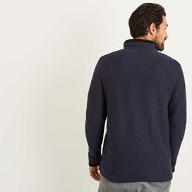 Bowline 1/4 Zip Technical Macaroni Sweatshirt Maritime Blue